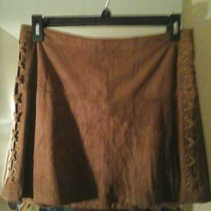 Brand-New! Faux Suede Miniskirt-better pic coming!